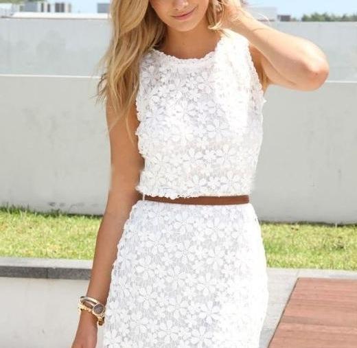 Белое кружевное платье на Алиэкспресс