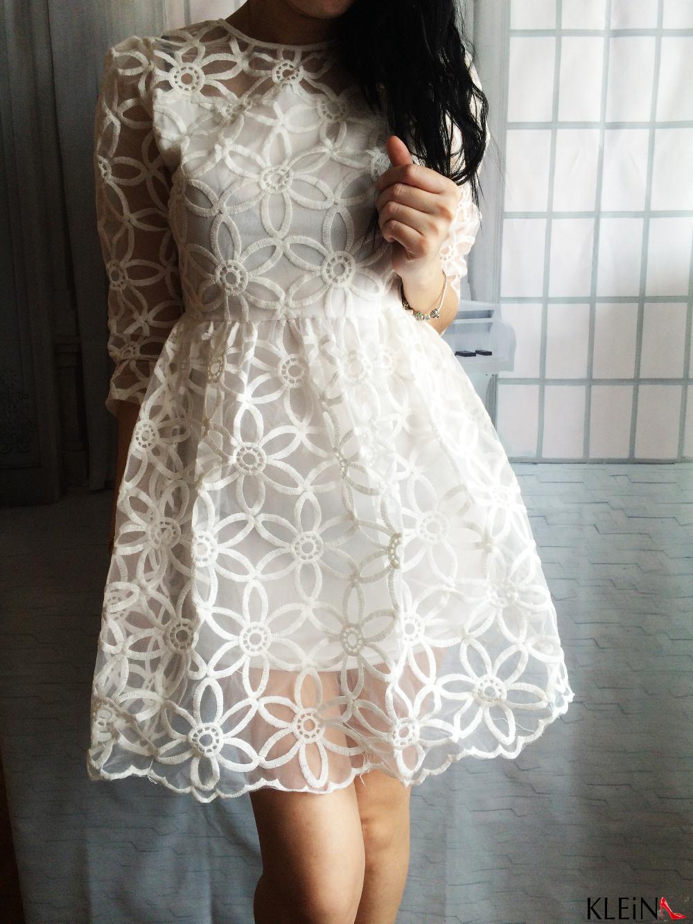 Прозрачное кружевное платье с Алиэкспресс
